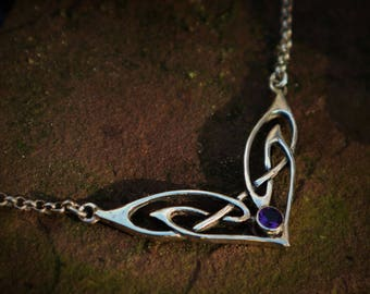 Celtic necklace 'Brianna' sterling silver