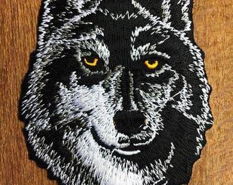 Lone Wolf No Club Motorcycle Harley Biker Rocker Badge Iron on Patch