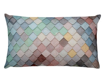 Tiles - Rectangular Throw Pillow