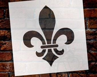 Versailles Fleur De Lis Art Stencil - by StudioR12 - Reusable, French Decor, Furniture Painting, Multi Media, Craft - SELECT SIZE - STCL923