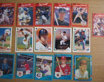 18 MLB Baseball Cards Donruss Upper Deck Co Pro Cards Topps Assorted Players 1989