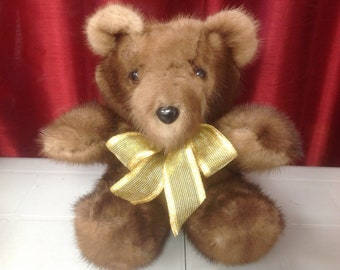 Bear mink Teddy Bears, mink Oso, 11 inches inches - 28 cm