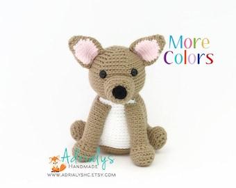 Crochet Chihuahua   Crochet Dog   Crochet Animals   Crochet Toy   Dog Toy   Chihuahua Toy   Dog Amigurumi   Made to Order