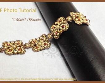 Photo Tutorial ENG- ITA ,DIY Bracelets,Maki bracelet,PDf Pattern 34