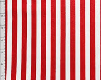 02994  - 1/2 yard of David Textiles  - Vertical stripes in red