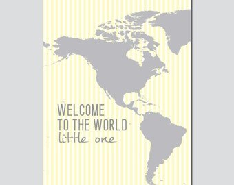 Welcome to the World Little One Wall Art - INSTANT DOWNLOAD