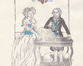 Antoine-Laurent Lavoisier and Marie-Anne Paulze Lavoisier as the Lovers Tarot - Founders of Modern Chemistry, History of Science, Biology