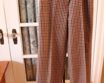 1970's Plaid Flared Pants