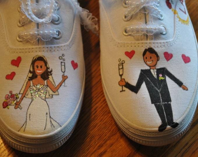 Custom Las Vegas Wedding Sneakers size 8.5 - SOLD