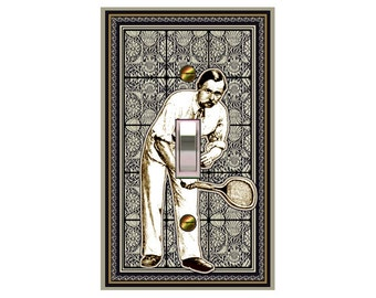choose sizes / prices from drop down box0731a -  Tennis Player - mrs butler switch plate covers - choose sizes / prices from drop down box
