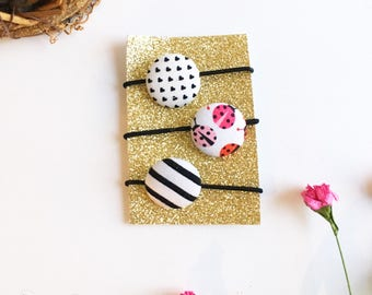 Lady Bug Hair Accessories Ponytail Holder Hair Tie Elastic Band Gifts for Girls