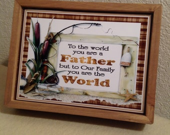 Father's Day Signs, Grandfather Sign, Father Sentiments, Love Father Signs, Grandfather's Day Gift, Father's Day Signs, Shelf Sitter Sign,