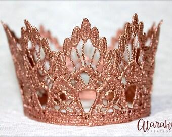 New! Rose Gold crown Cake topper / Crown Cake Topper / Cake Topper Photo Prop / cake smash crown / MADE IN USA.