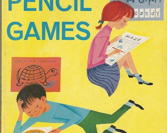 Big Book of Pencil Games Vintage Activity Book, C1962