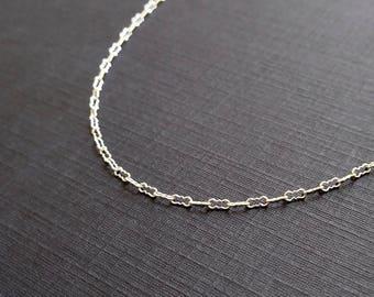 "KRINKLE - 7"" or 8"" Inch Bracelet - Sterling Silver Bracelet - Peanut Chain - Delicate Chain - Finished Chain - Krinkle Chain - Fancy Chain"