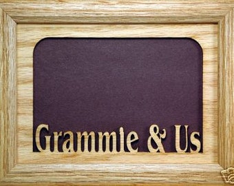 Grammie and Us Picture Frame - Grammie Gift, Grammie Frame, Grandma Gift, Grandma Frame, Grammie, Picture Frame, Custom Frame, 5x7