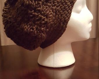 Woman's slouchy crochet beanie