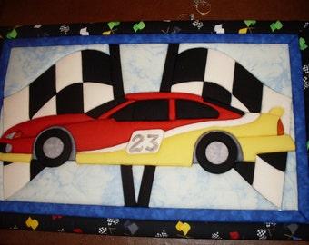 Race Car Quilt Wall Art