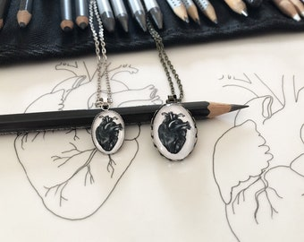 Anatomical heart ring and pendant