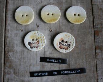 5 buttons porcelain ref 009