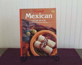 Sunset Mexican Cook Book, Vintage Cookbook, 1989