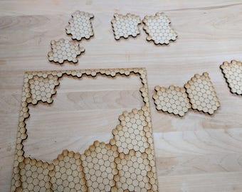 "13 piece ""Hexes"" Laser Cut Jigsaw Puzzle DIGITAL FILE"