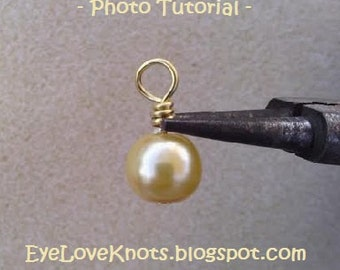 JEWELRY DIY & Photo Tutorial - How to Form a Wrapped Loop - Instant Download