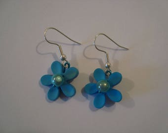 The pair of Blue Flower Earrings