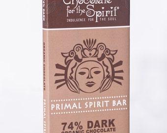 Organic 74% Dark Chocolate Primal Spirit Bar