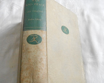 WAR and PEACE Book by Leo TOLSTOY 1930s Modern Library