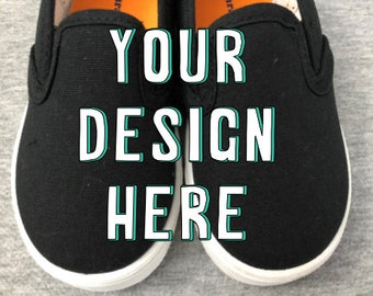 Custom hand painted shoes.