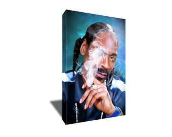 FREE SHIPPING Snoop Doggy Dogg Indo Smoke Portrait Canvas Art