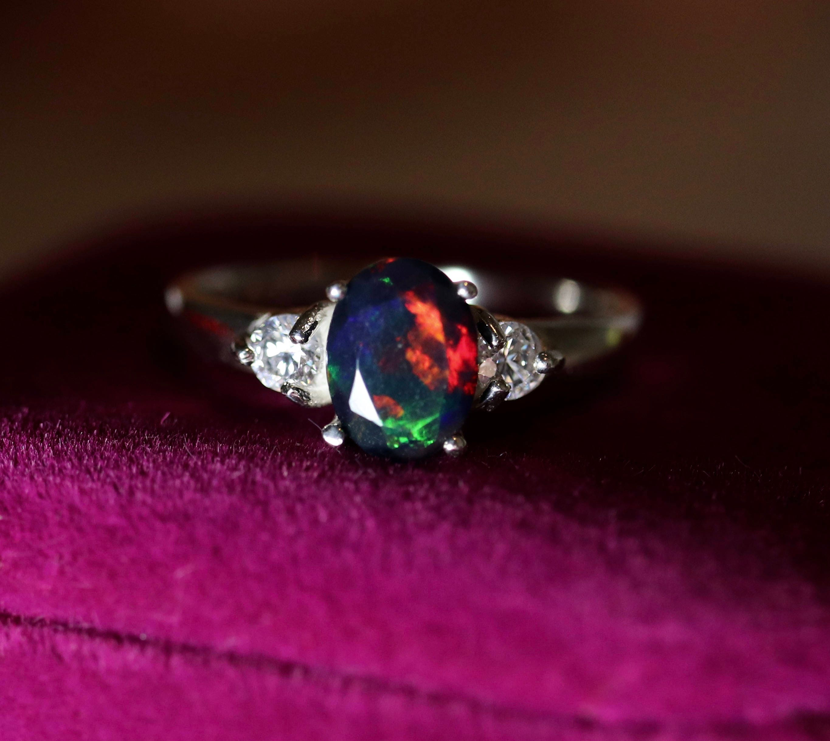 ring cz accented opal delicate fire fullxfull il black natural listing rings engagement