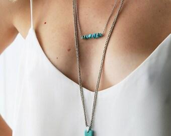 Collier ras de cou turquoise