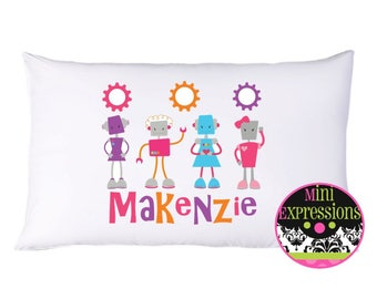 Girl Robot Personalized PillowCase