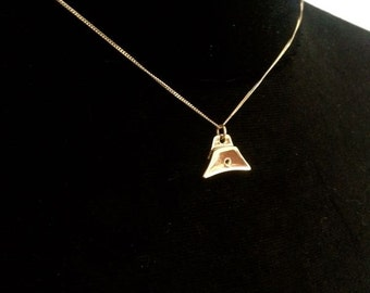 9ct Gold Whistle Charm & chain