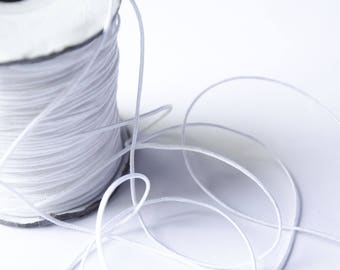 Wire Nylon braid white 1.5 mm x 1 meter