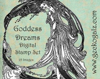 Goddess Dreams Digital Stamps