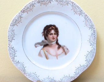 "1890's Queen Louise Of Prussia Mignon Z.S. & Co. Bavaria 6"" Plate"