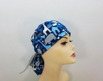 Surgical Cap ponytail stile-Loves Domestic Animals-cotton 100%
