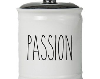 Passion Word Jar With Lid - Money Coin Jar - Money Bank - Money Jar - Money Jar With Lid