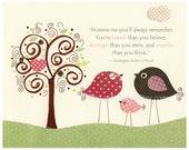 Nursery wall art print, B...