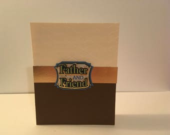Handmade Card- Father and Friend