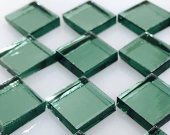 TREFOIL Lt GREEN MIRROR Color Glass Mirror Mosaic Tile Supply J10