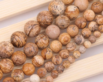 set of 20 6 mm natural fossil beads