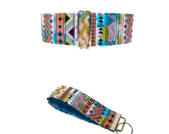 Tribal Martingale Collar, Dog Lover Gift, Southwest Martingale Collar, Tribal Dog Collar, Aztec Martingale Collar Aztec Dog Collar Large Dog