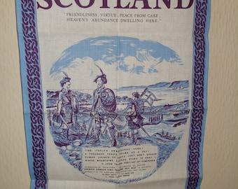 Vintage tea towel from Scotland