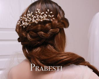 Bridal Hair Comb - Forever Baby's Breath/ Gypsophila Hair Comb - Made to Order