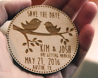 Wooden Save the Date Magnets, Save the Date Magnets, Save the Dates, Wood Magnets, Wooden Save the dates, Wood save the date