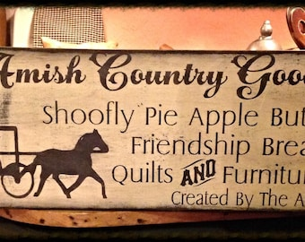 Large handmade primitive wood sign